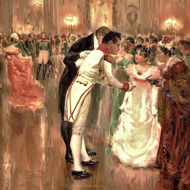 """El encuentro entre Andréi y Natasha en el baile es una de las escenas centrales de """"Guerra y paz""""."""