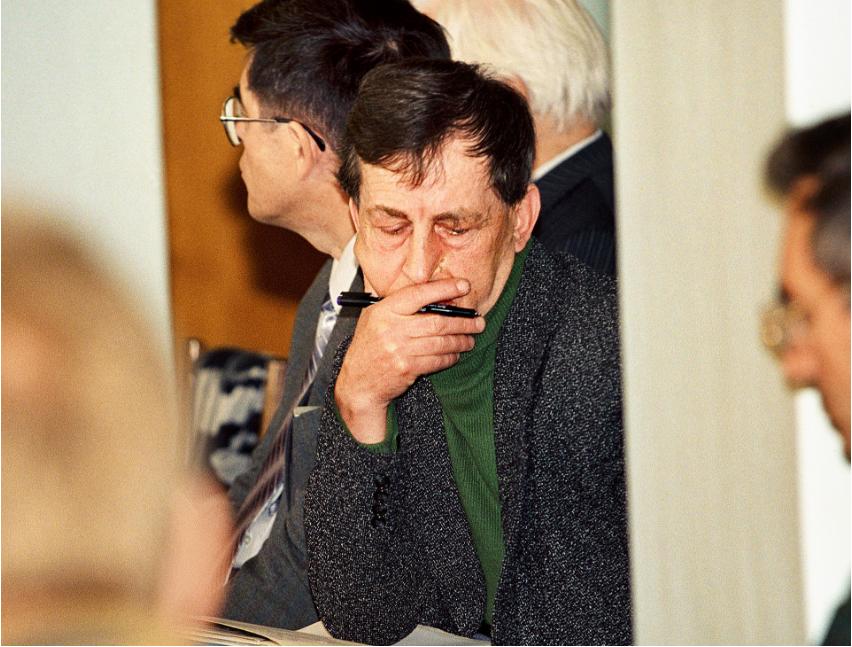 Anatolij Bugorski, glavni koordinator poskusnih del na trkalniku U-70.