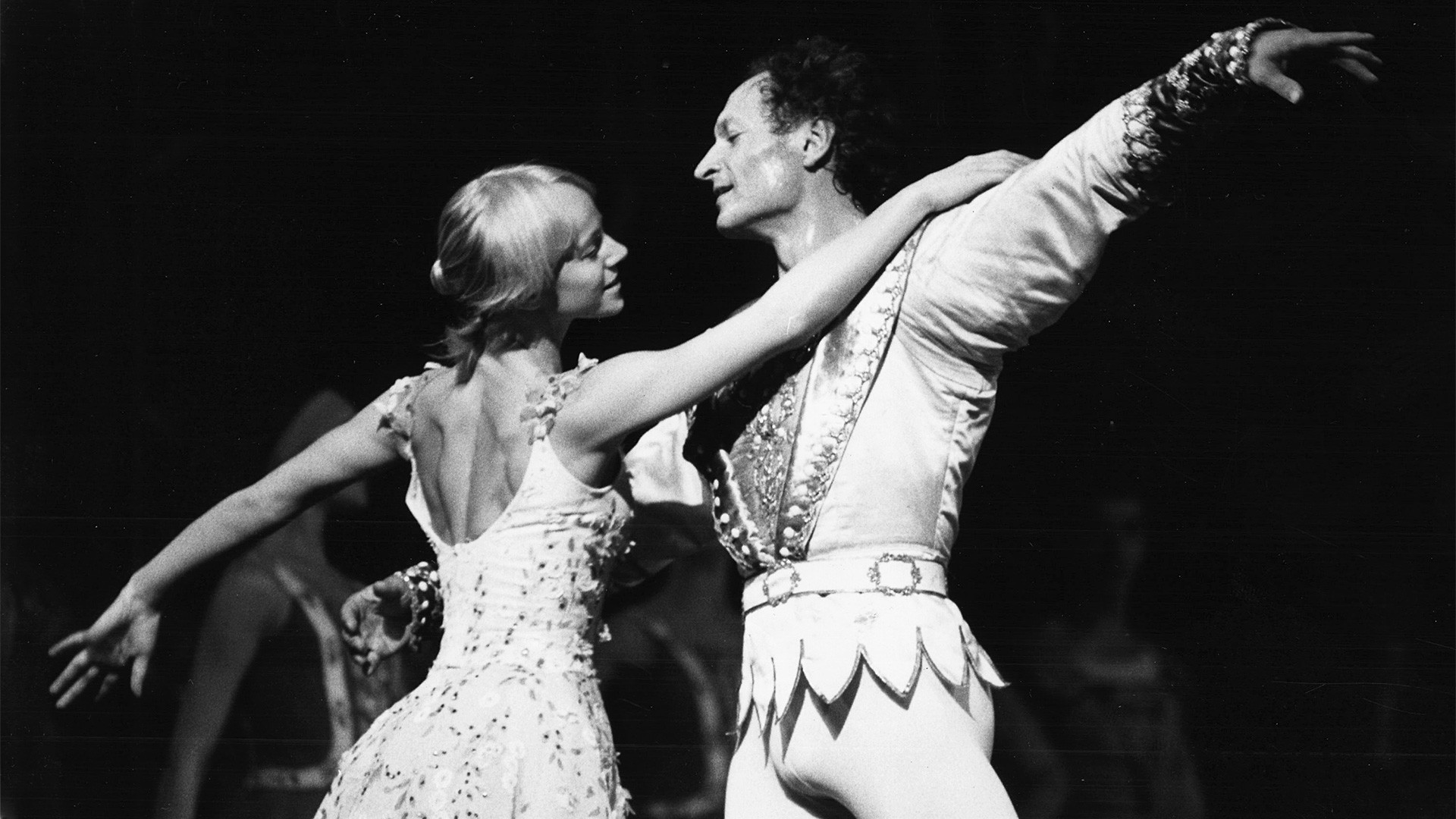 "Russian dancers Galina Panova and her husband Valery Panov are pictured during rehearsal with the Berlin Opera Ballet Production of ""Cinderella"" at the New York State Theater of the Lincoln Center for the performing arts, July 6, 1978."