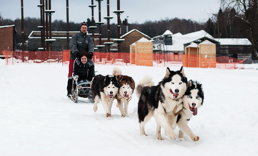 Skiing, sledding, dogsledding, horse-sledding: it's all called kataniya in Russian, and we love it.