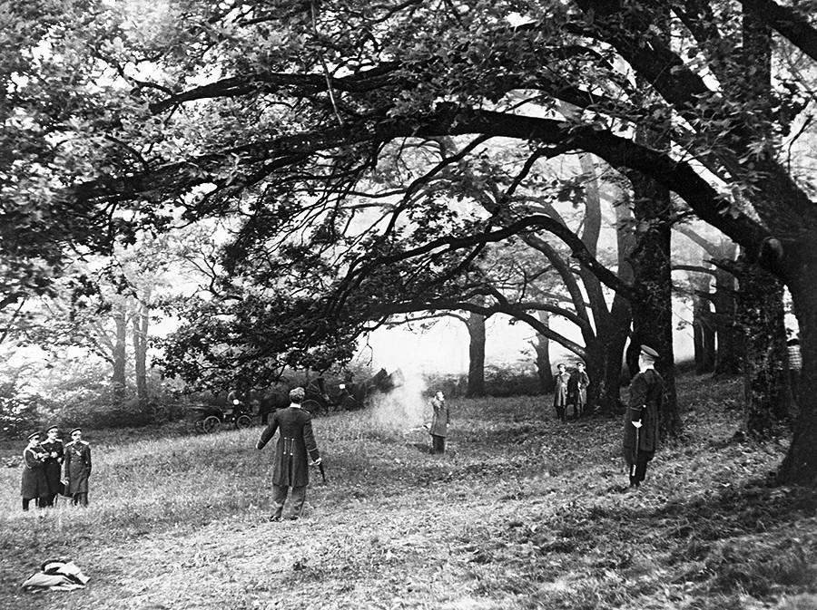 「決闘」映画のシーン、1957年、映画スタジオ「モスフィルム」