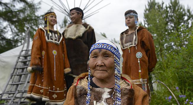 Avtohtoni prebivalci vasi Eso na Kamčatki
