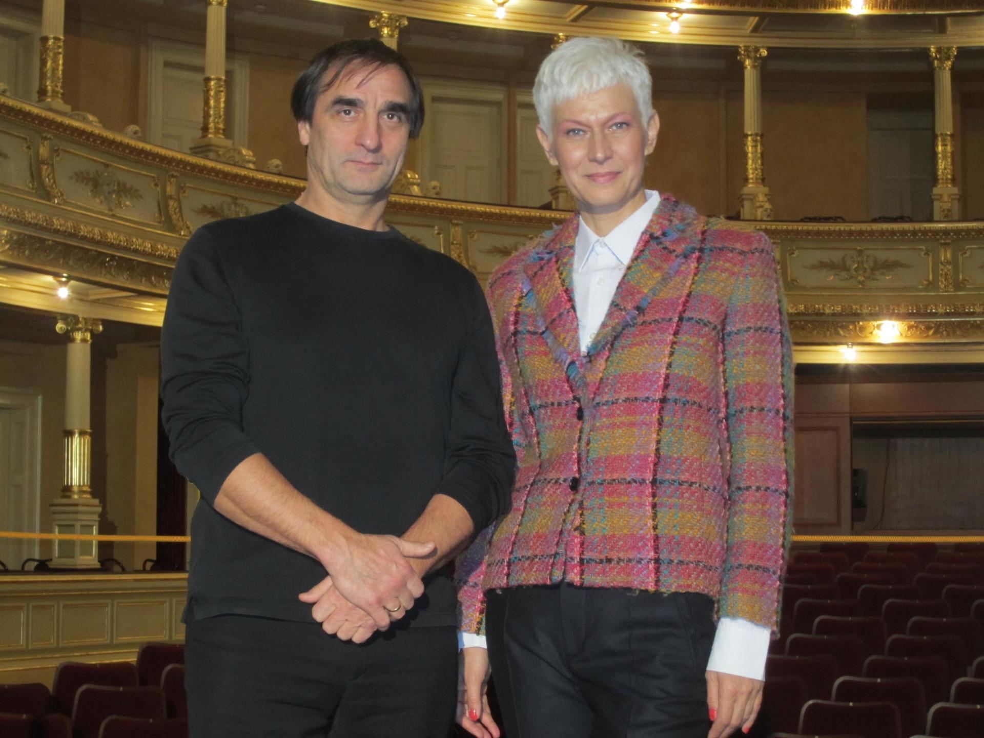 Barbra Drnač in Irek Muhamedov, nekdanji umetniški vodja baletnega ansambla v SNG Opera in balet Ljubljana.
