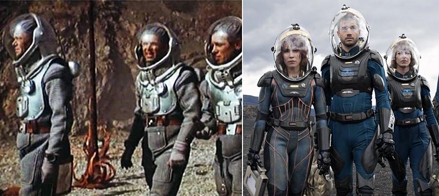 Прича се да су Клушанцевљева космичка одела коришћена приликом стварања правих космичких одела у којима су космонаути летели у космос. Због тога је природно што се слични костими срећу и у данашњим филмовима.