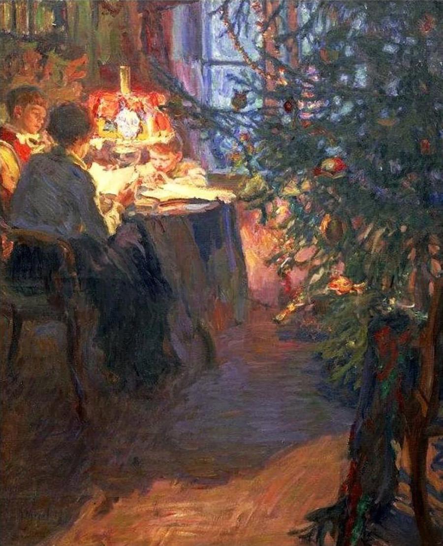 「クリスマスツリー」、アレクサンドル・モラロフ画
