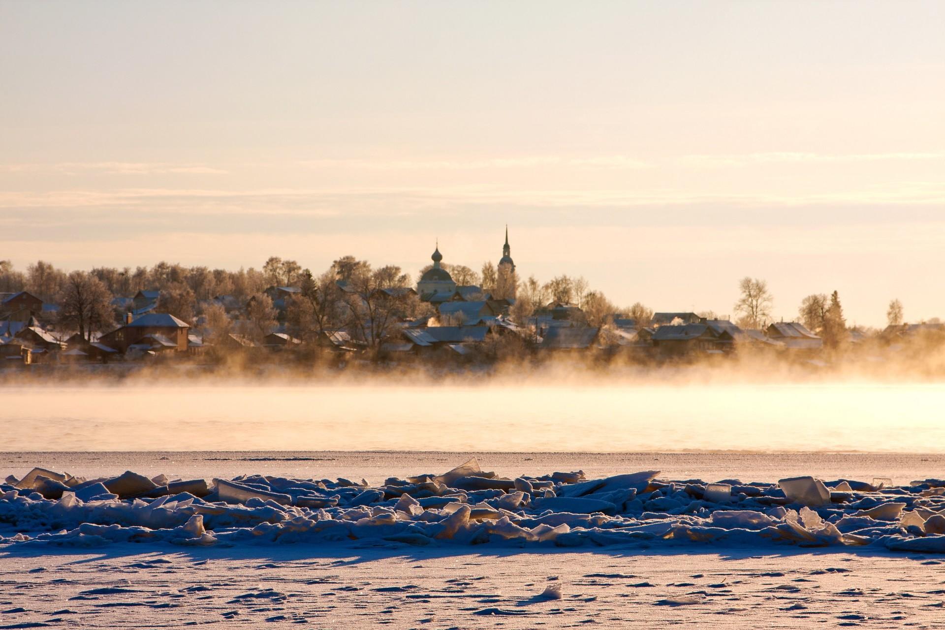 Vista da cidade e do rio Volga
