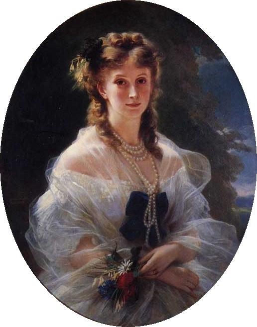 Retrato de Sofía Serguéievna Troubetzkoi (1863), obra de Franz Xaver Winterhalter.