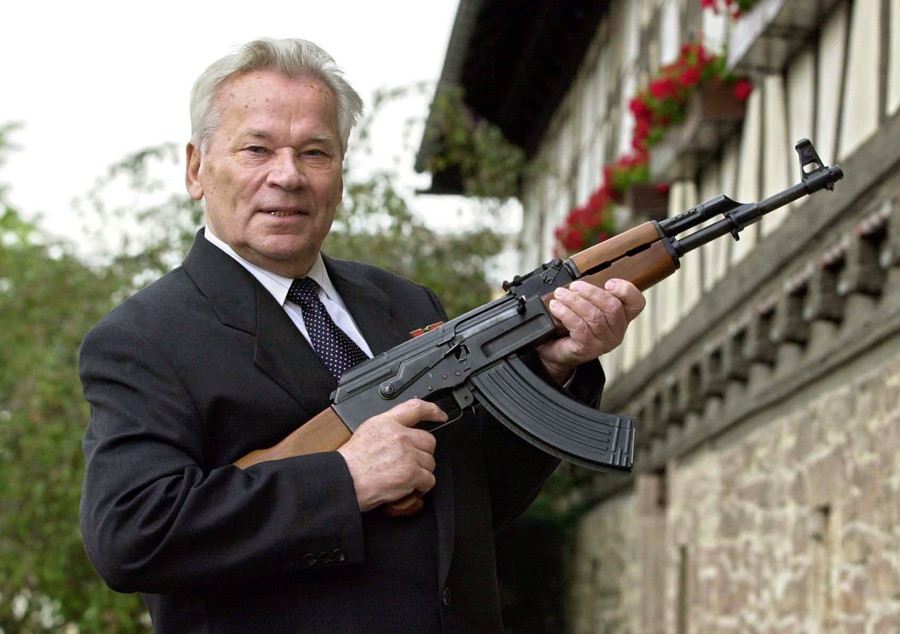Mikhail Kalashnikov, the AK-47's inventor.