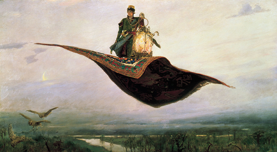 The Flying Carpet, a depiction of the hero of Russian folklore, Ivan Tsarevich.