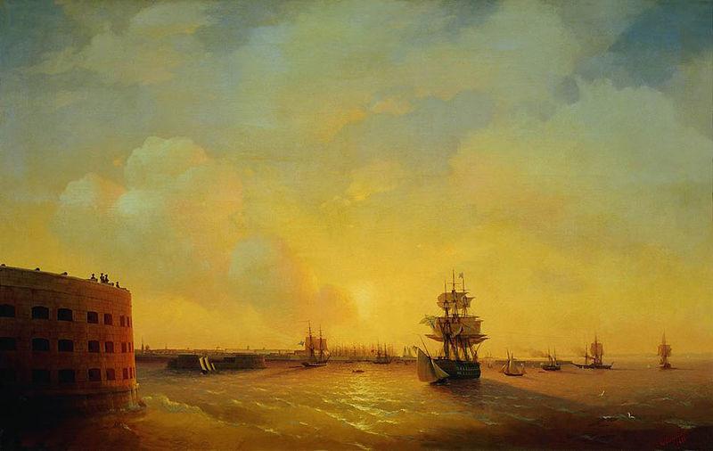 Trdnjava Imperator Aleksander I., umetniško delo Ivana Ajvazovskega.