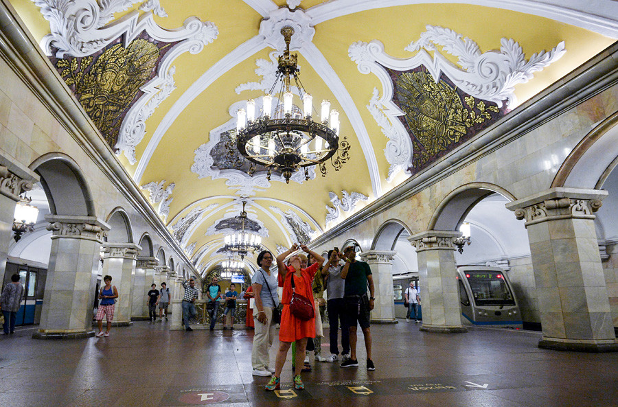Komsomolskaya station of the Moscow metro