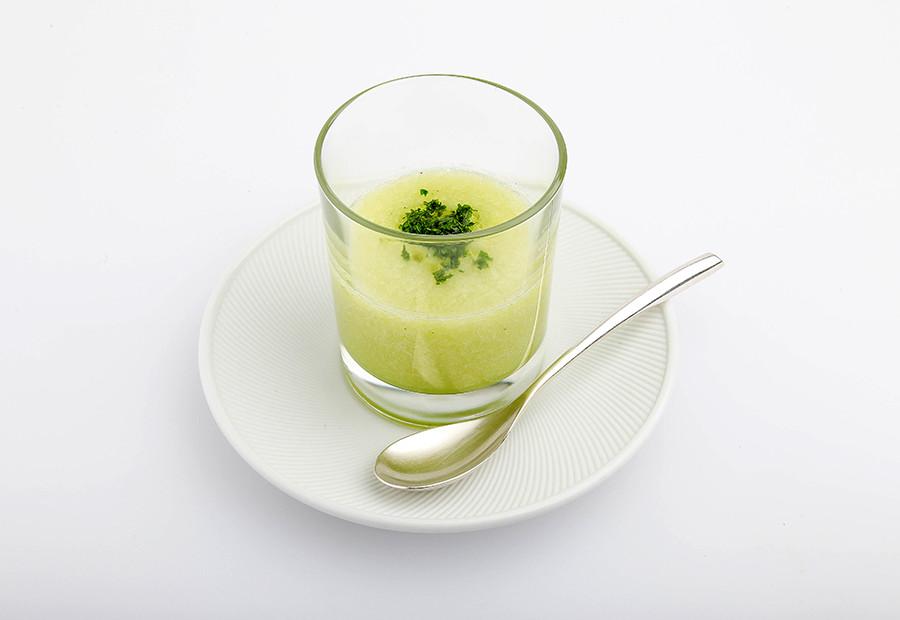 キュウリのスープ・ピューレ