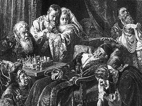 Death of Ivan the Terrible after playing chess