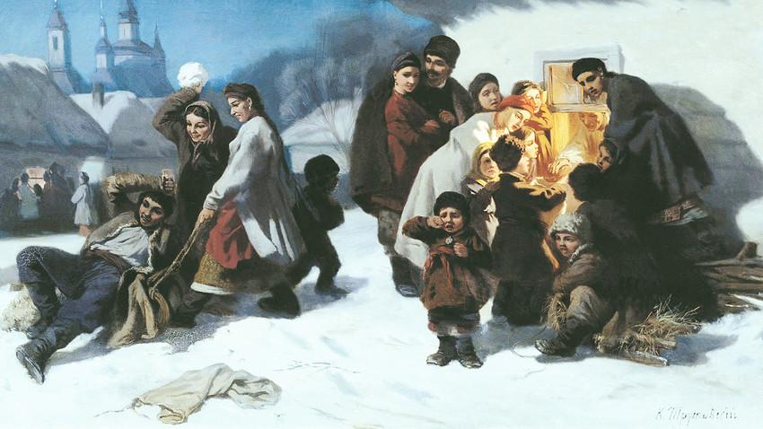 """Константин Трутовски: """"Коледовање у Малорусији"""" (1864)"""