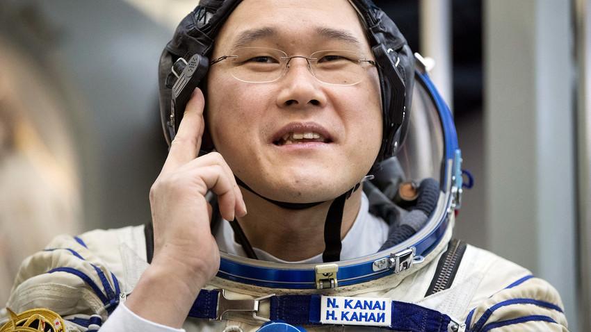 Японският астронавт Норишиге Канай преди последния си практически изпит край Москва, Русия - 29 ноември 2017 г.