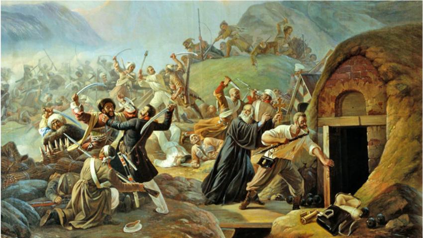 Vojna na Kavkazu je trajala skoraj pol stoletja.