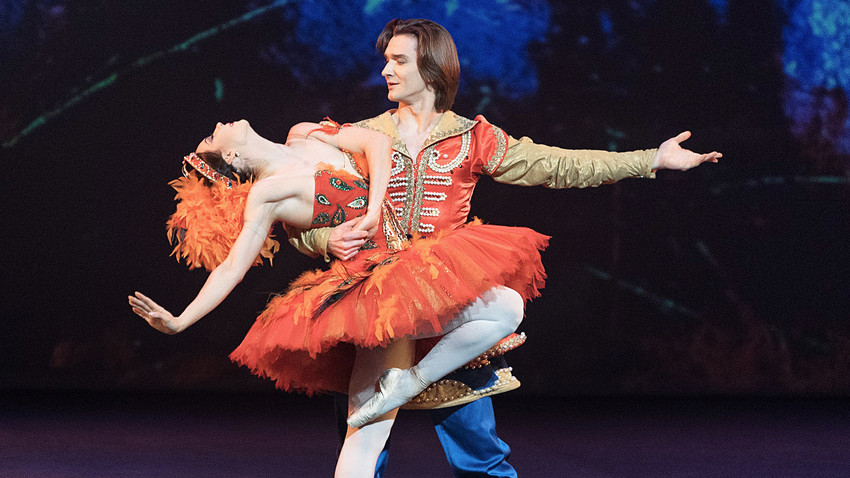Maria Alexandrova and Vladislav Lantratov performing 'The Firebird' in London, file photo