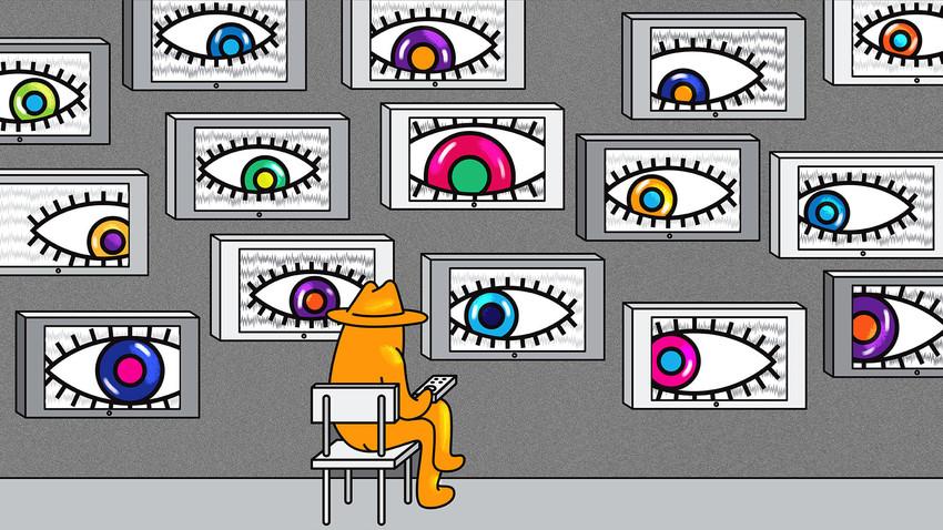 Na Rússia soviética, a TV assiste a você... e todas as TVs estão te assistindo!