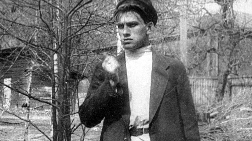 Young Vladimir Mayakovsky looked like he is ready to fight anyone who is on his way. This might be a wrong impression but sometimes writer did get into fights, even with each other