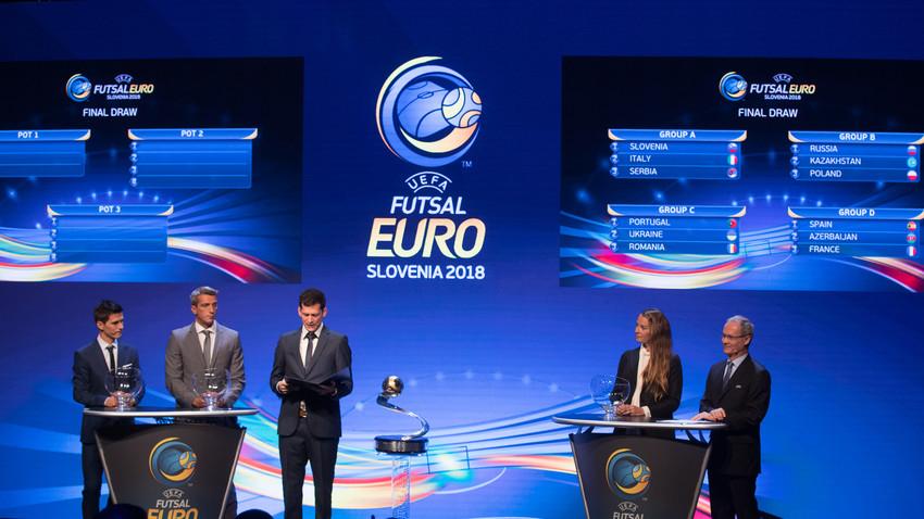 Žreb skupin na Ljubljanskem gradu. Rusija trenutno brani 2. mesto z zadnjega evropskega in zadnjega svetovnega prvenstva.