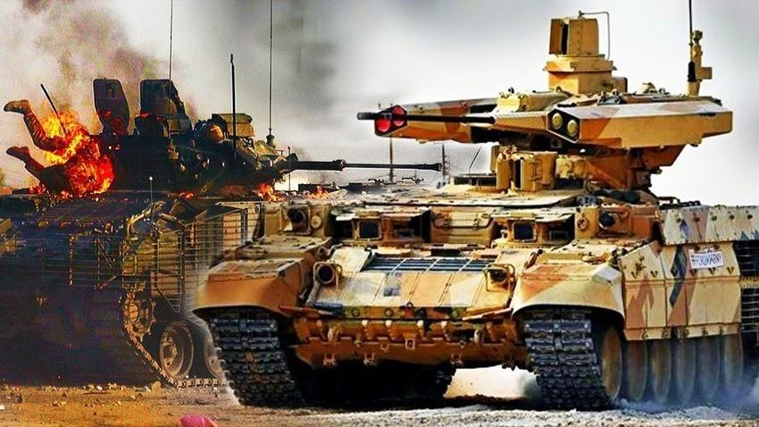 """BMPT-72 """"Terminator-2"""" u naletu"""