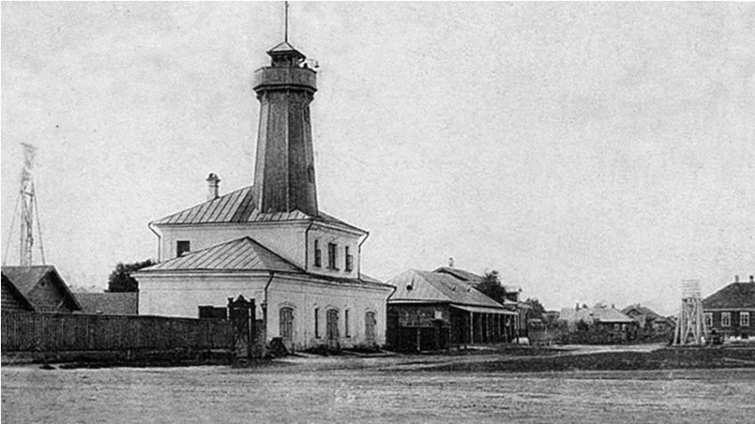 Stolp v Mologi, ki ga je zasnoval Andrej Mihajlovič Dostojevski.
