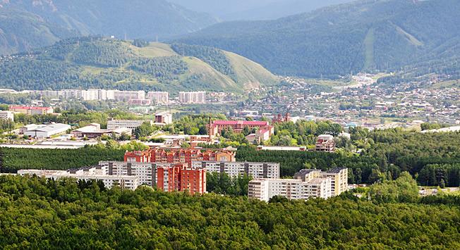 Pemandangan Krasnoyarsk.