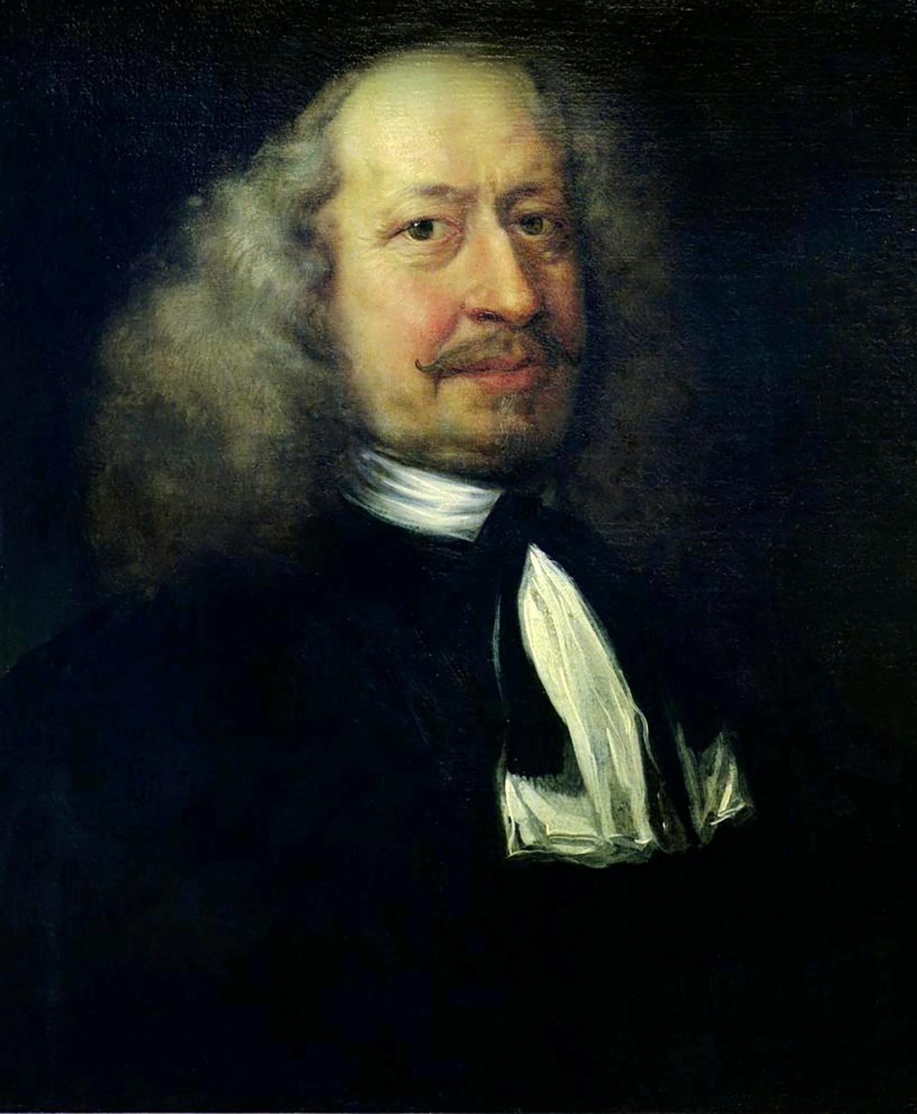 Potret Adam Olearius oleh Jürgen Ovens.