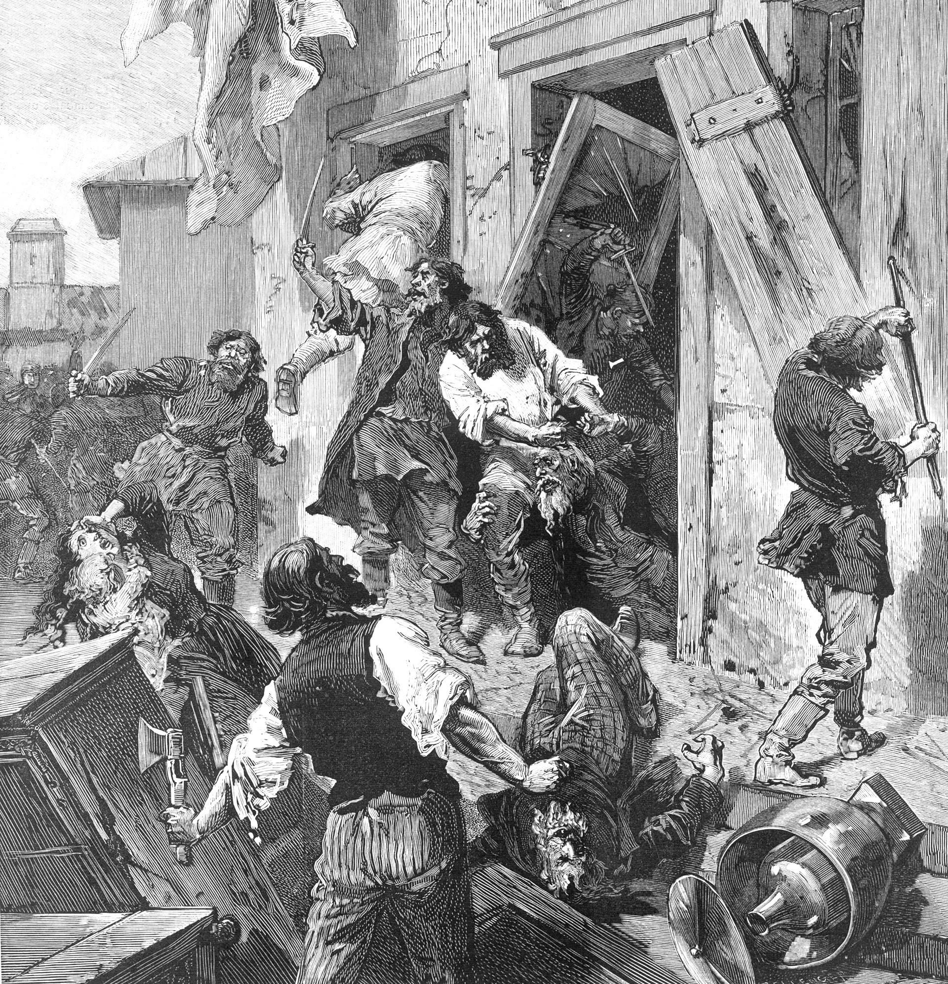 Jewish home is attacked at Konnovino, near Nijni-Novgorod