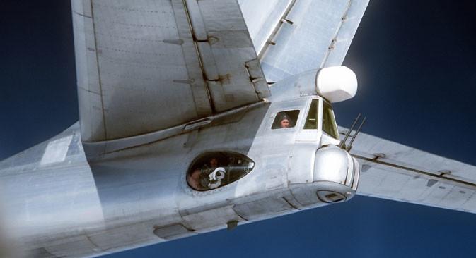 Ту-95, сниман от американски F4D, 1980 г.