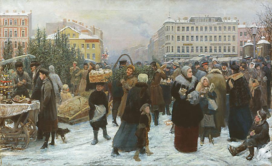 """Генрих Манизер: """"Пијаца божићних јелки"""""""