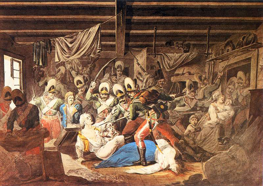 Суворов заузим на Јуриш Прагу, предграђе Варшаве, 4. новембар 1794.