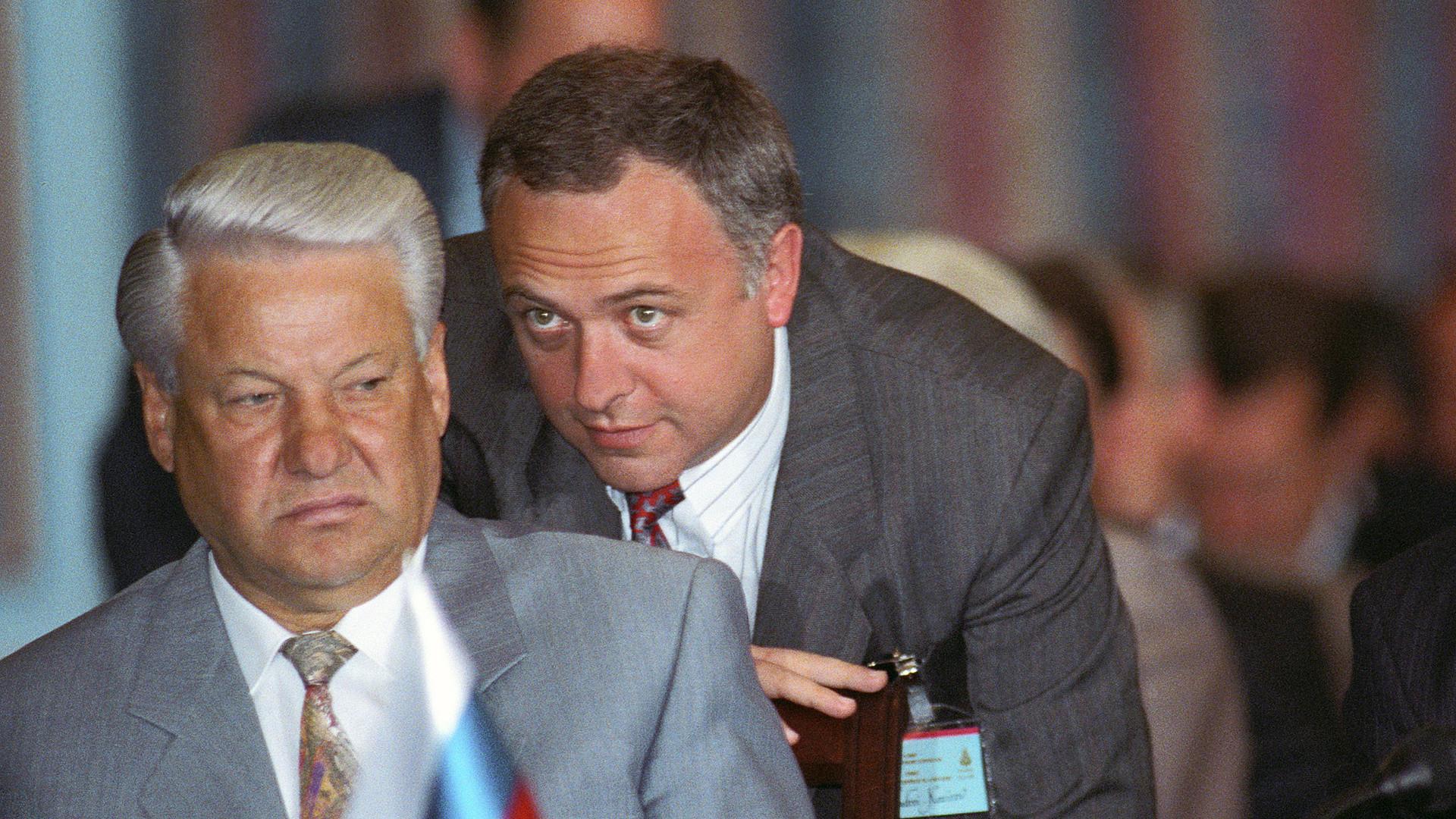 Борис Јељцин и Андреј Козирев