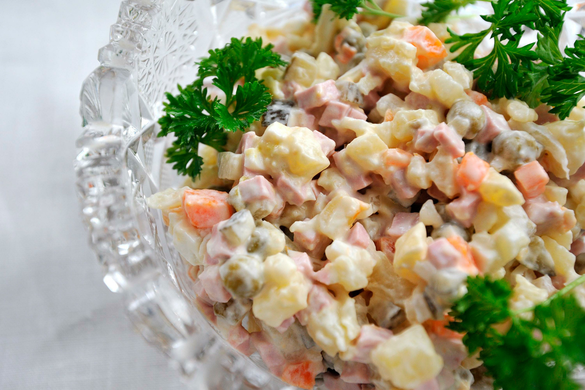The Russian salad.