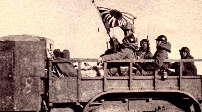 Japonski vojaki v Mandžuriji, 1932