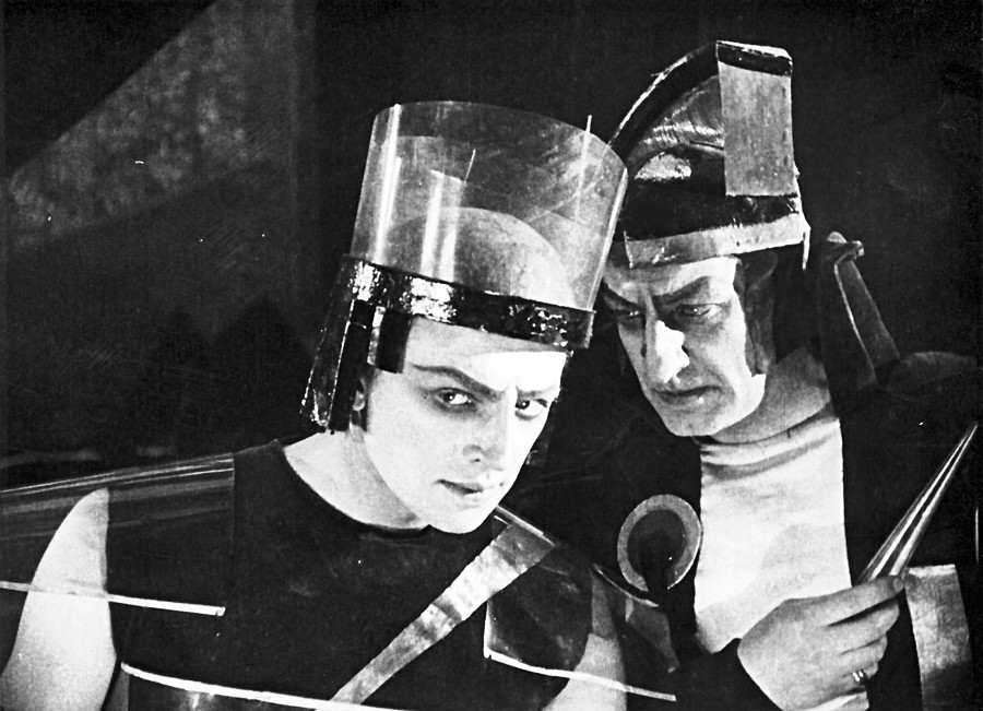 Cena do filme 'O declínio de Marte'. Tolstói foi um dos pioneiros da ficção científica e sua obra é para lá de imaginativa.
