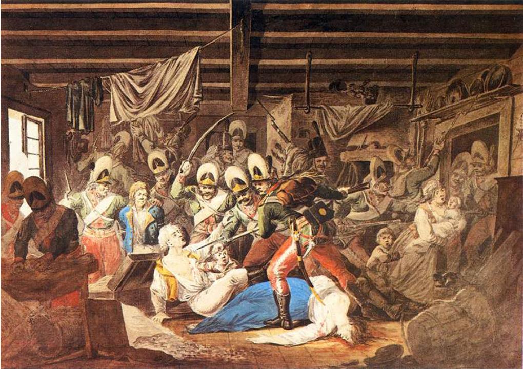 Suvorov pri zavzemanju predmestja Varšave, 4. november, 1794.