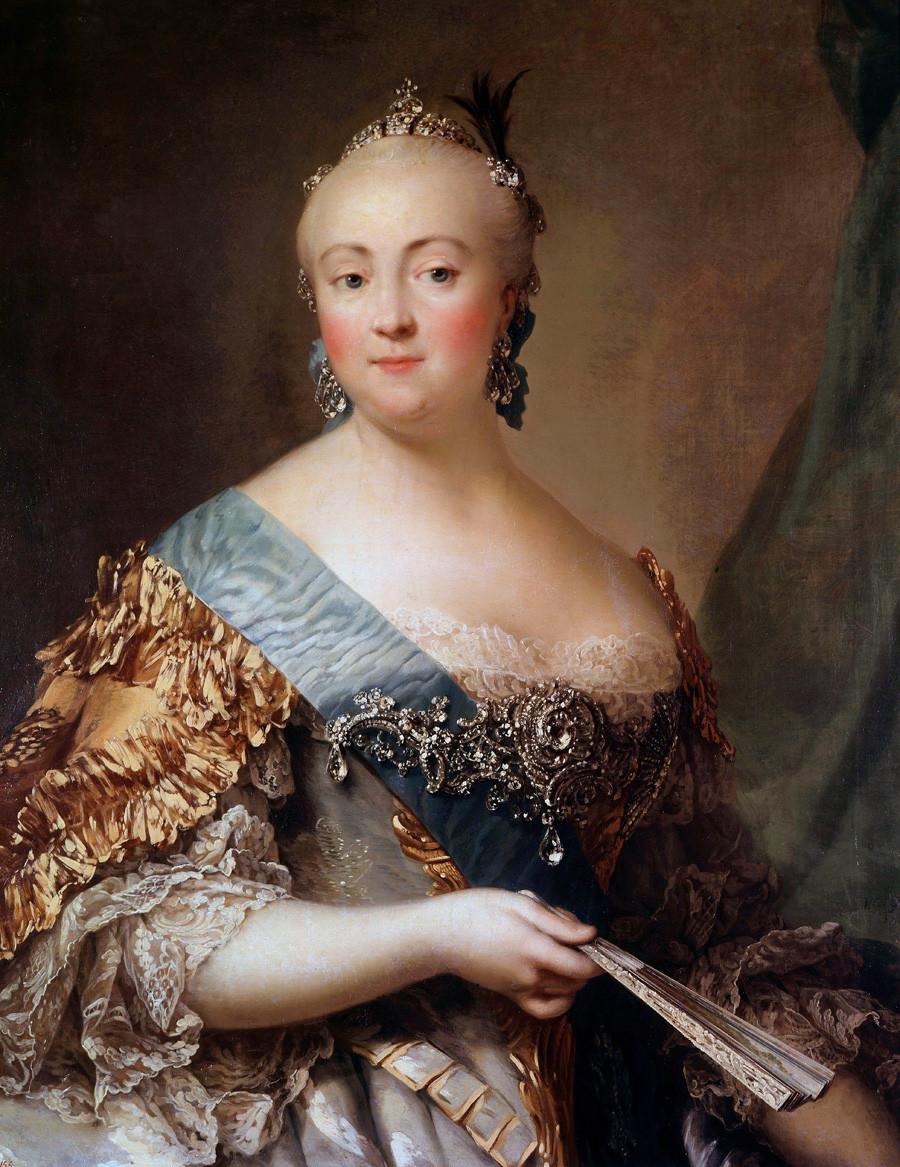 Портрет Јелизавете Петровне (1709-1762), ћерке Петра I. Александар Рослин, 18. век, Ермитаж, Санкт Петербург
