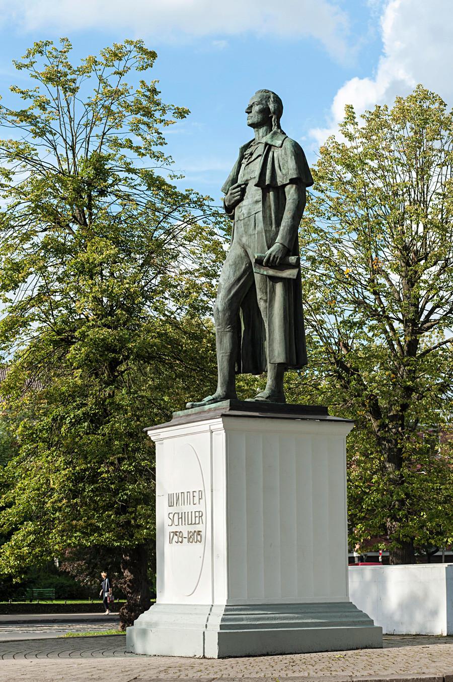 フリードリヒ・フォン・シラーの銅像