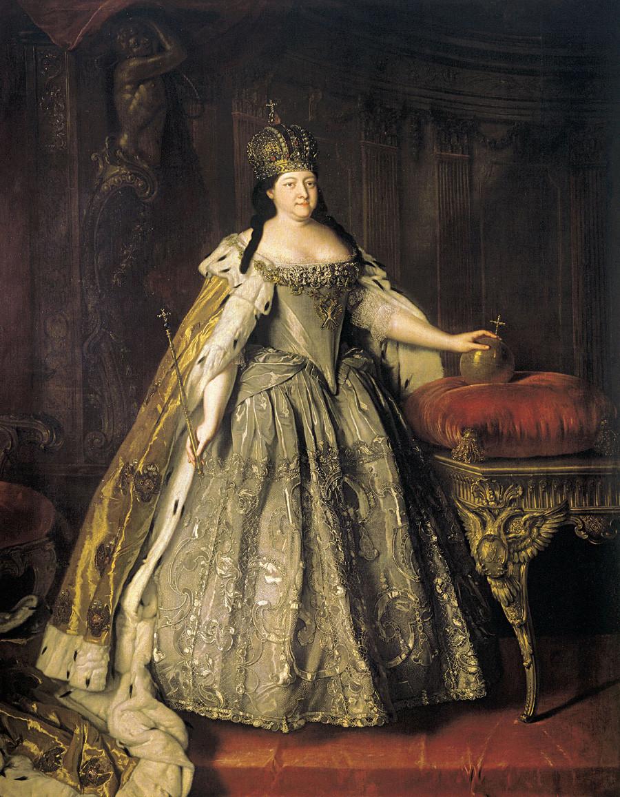 Portret carice Ane Ivanovne, Louis Caravaque.