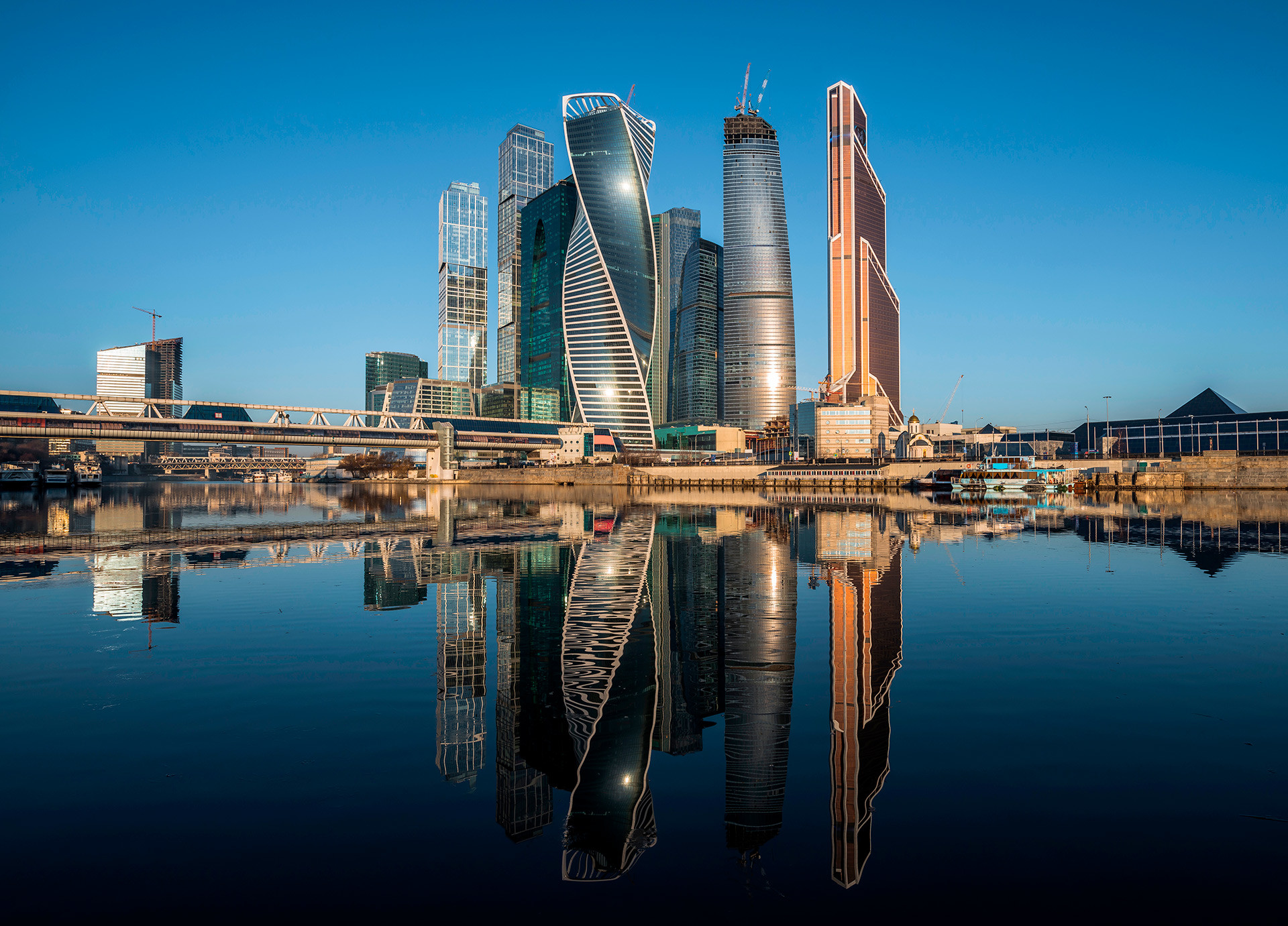 The Moscow International Business Center.