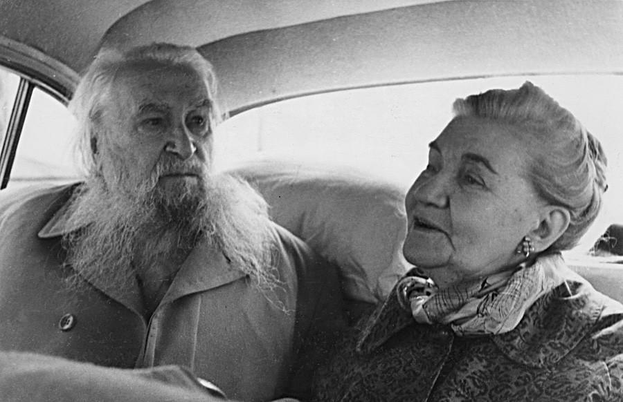 Serguéi Koniónkov y Margarita Koniónkova en la URSS.