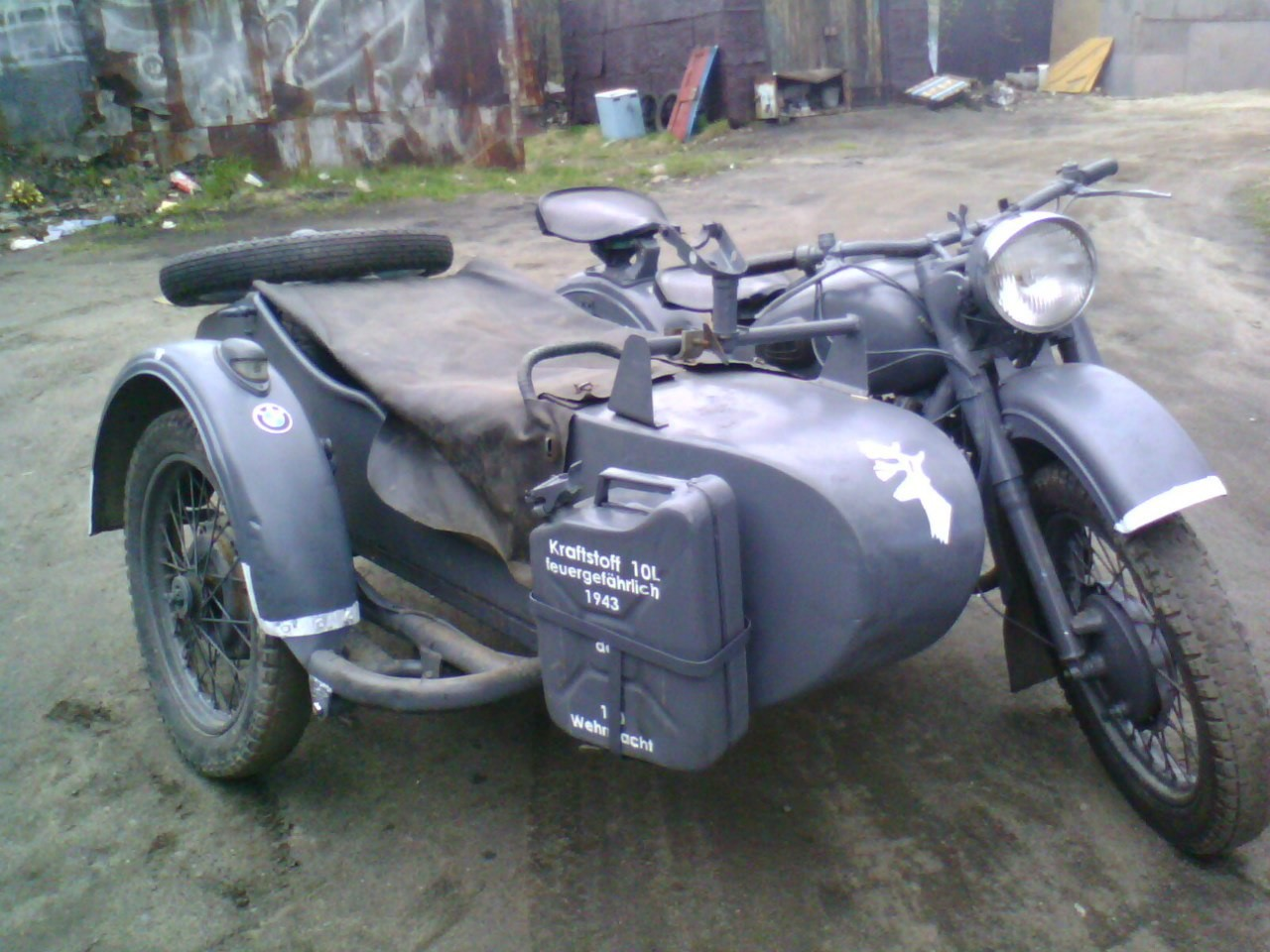 Ural M-62, iz katerega so naredili repliko BMW R75