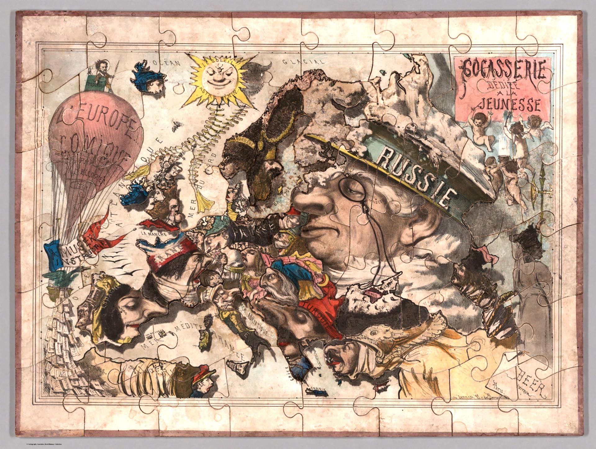 Humoristische Karte Von Europa 1914.Boser Bar Und Gruseliger Krake Wie Historische Satire