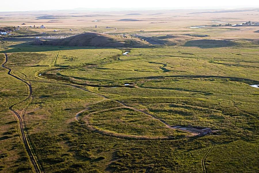 Панорама на околността на населеното място Аркаим.