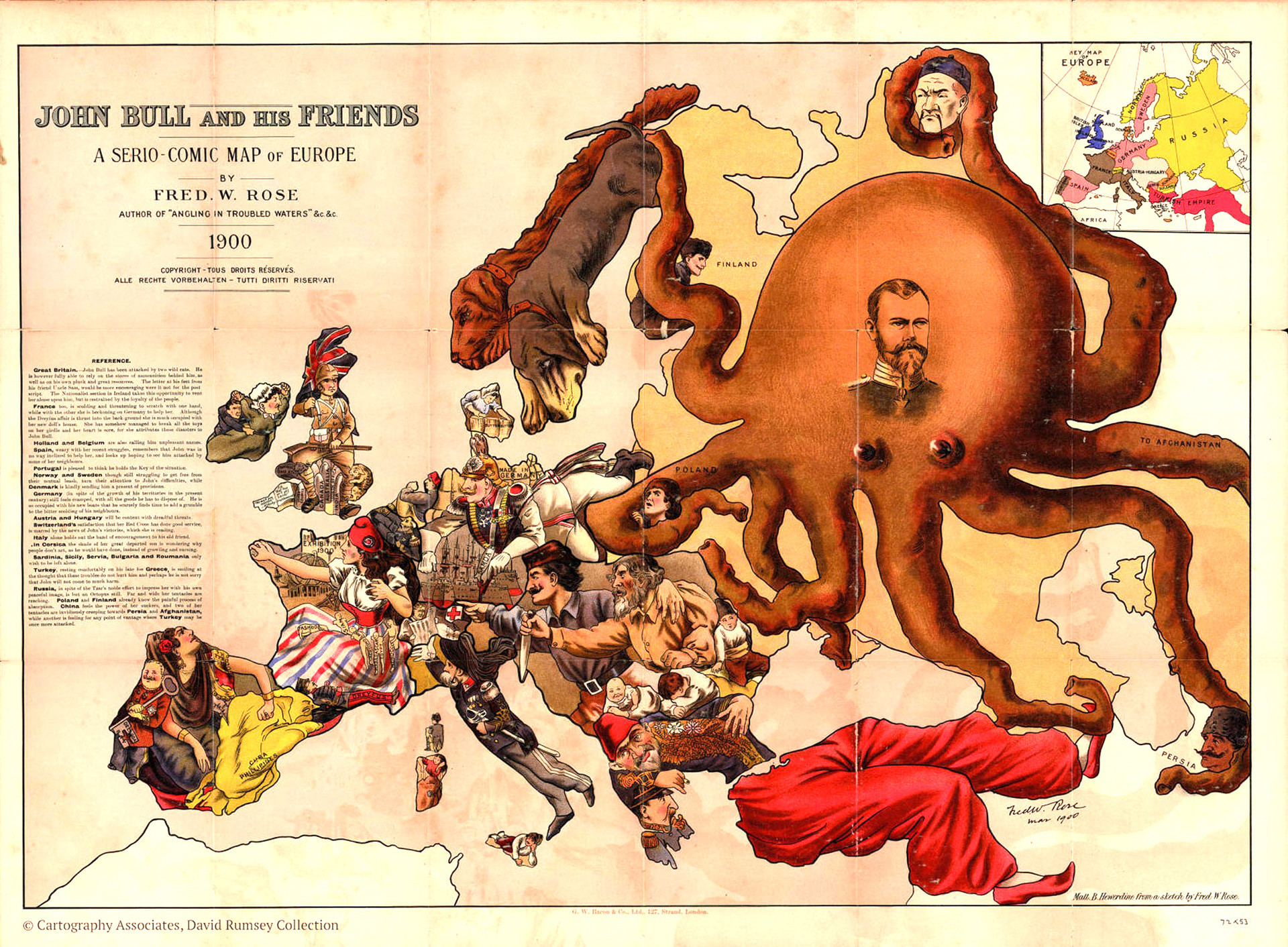 Un mapa realizado por un artista inglés.