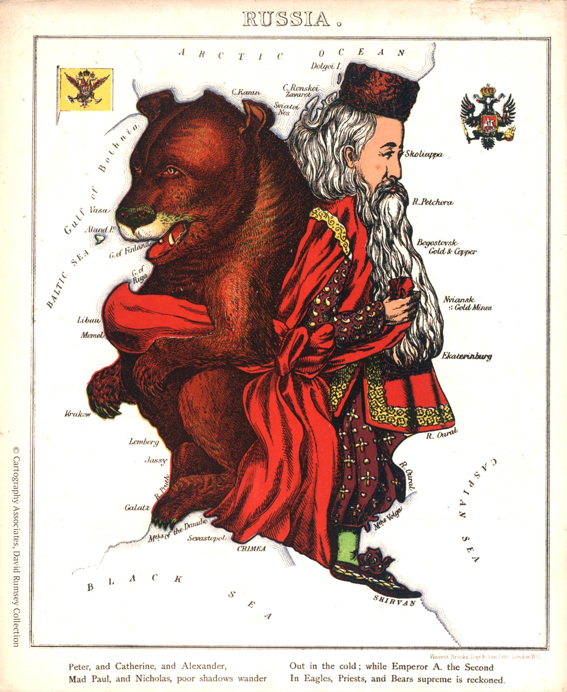 Un dibujo de Harvey William realizado en 1868.