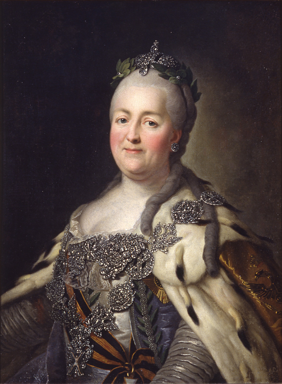 Catarina II em seus últimos anos de vida.