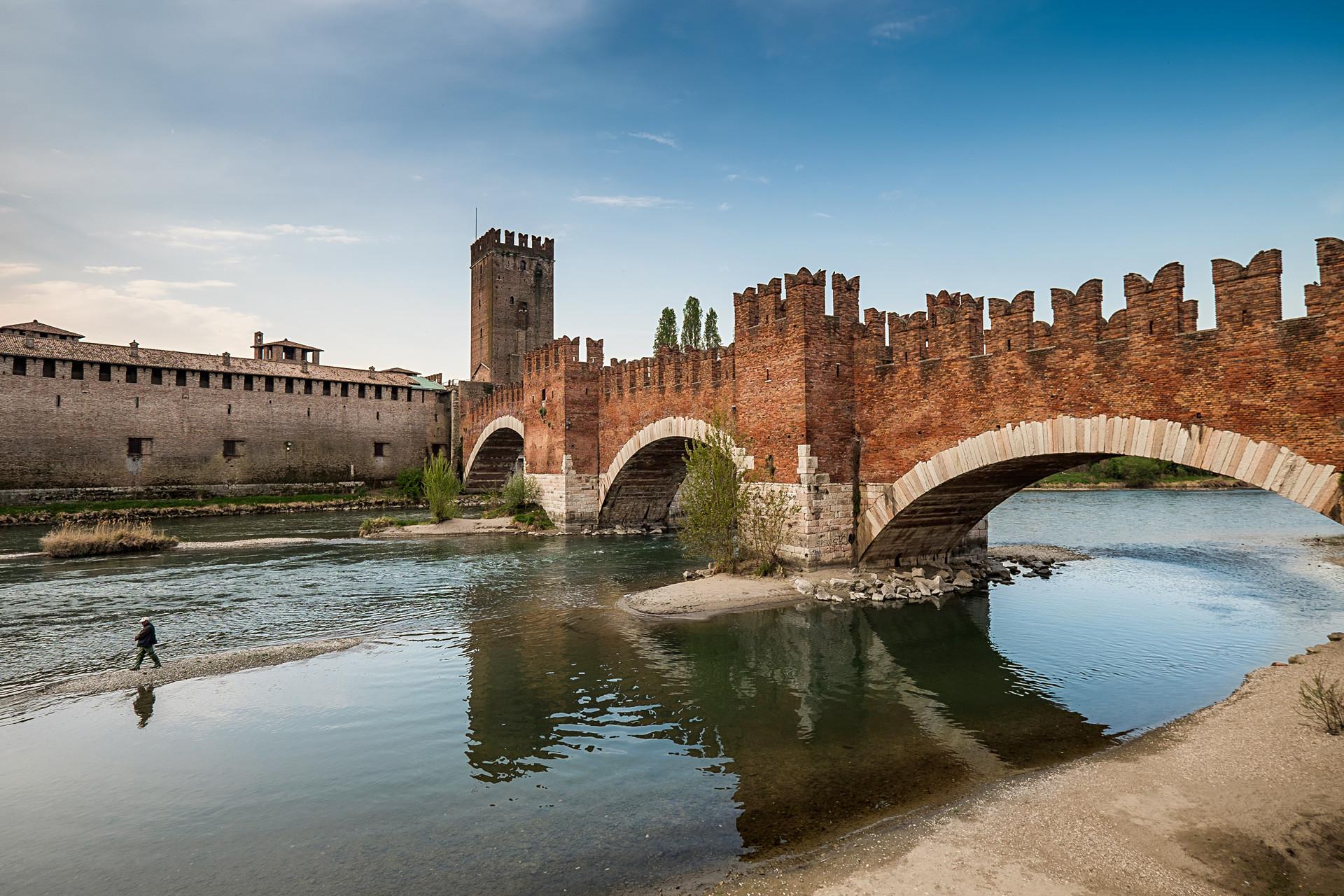 Forte Castelvecchio, em Verona, Veneto.