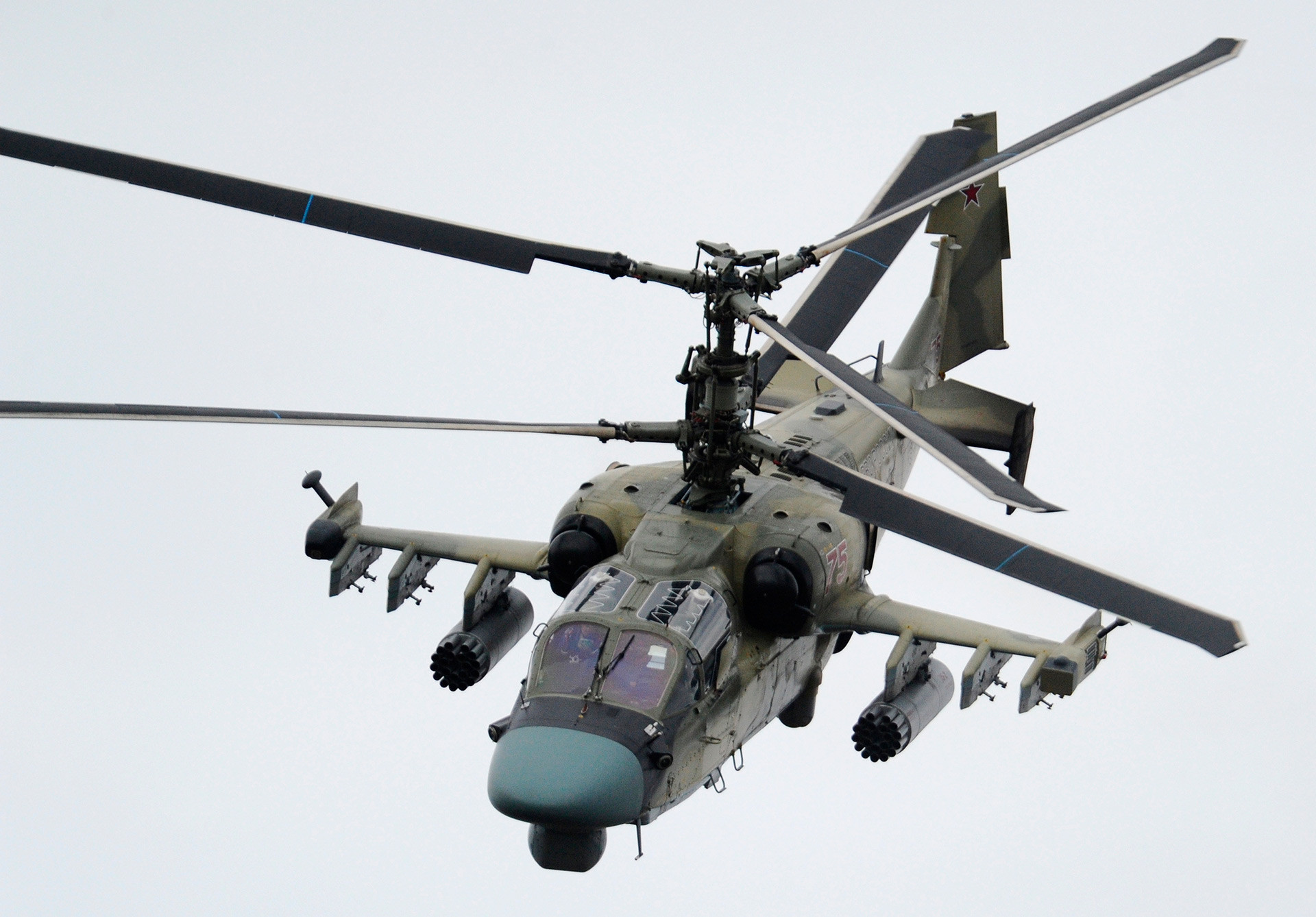 Ka-52 battle helicopter is one of most powerful additions to the Air Forces.